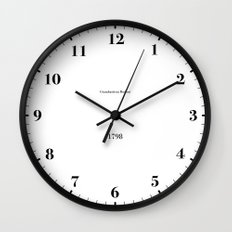 Type/Face 07 Wall Clock