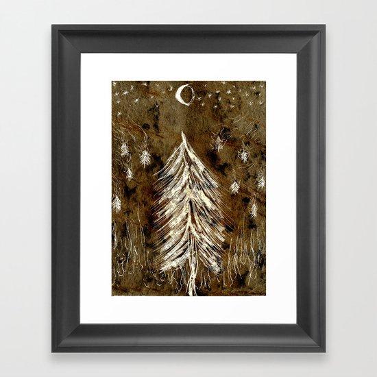 Dawn In A Burning Forest Framed Art Print