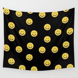 Happy Face - smiley, smiles, happy, emoji, cute, 90s, happy face Wall Tapestry