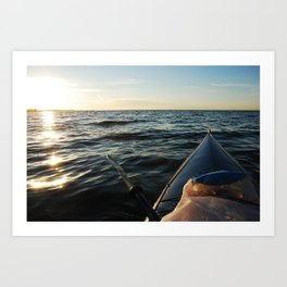 Kayaking Port Angeles Art Print