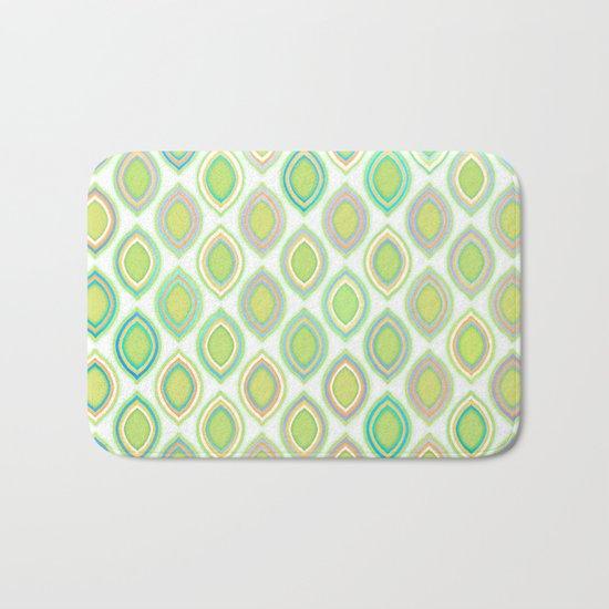 Lemon & Lime Pattern Bath Mat