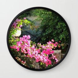 mediteran hidden garden Wall Clock