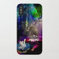 decal iPhone & iPod Cases featuring Fantasy forest by haroulita