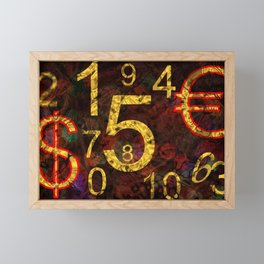 Concept numbers : Payment Framed Mini Art Print