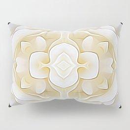 White Flower of Balance Pillow Sham
