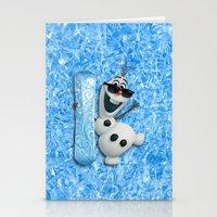 olaf Stationery Cards featuring SNOW MAN OLAF by BeautyArtGalery