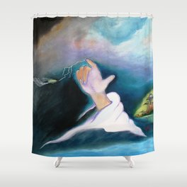 A BULLET MET BY GOD ...special edition Shower Curtain
