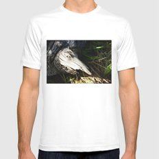 Monster in a Tree White Mens Fitted Tee SMALL