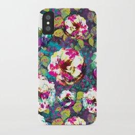 Paintsplat floral iPhone Case