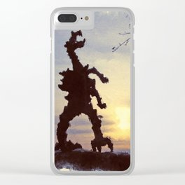 Cracow - wawel dragon Clear iPhone Case