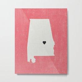 Alabama Love Metal Print