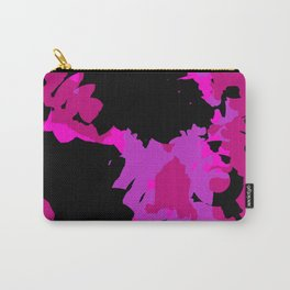 Fuchsia and black abstract Carry-All Pouch