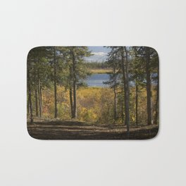 Forest Overlookng a Lake Bath Mat