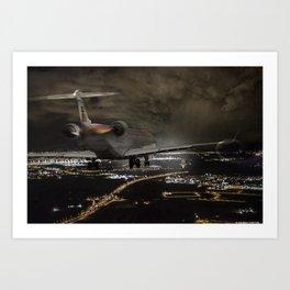 Wind 360 20 kts clear to land Art Print