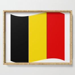 Belgian flag Serving Tray