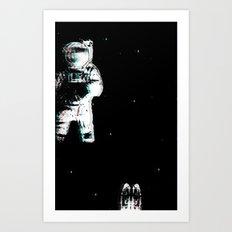 Spaced Dreams (Moon Traveler) Art Print