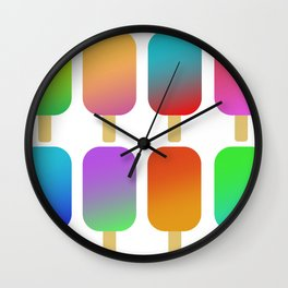 icecreams_white Wall Clock