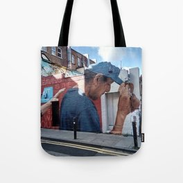 Man with blue cap. Tote Bag