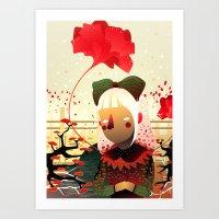 sandra dieckmann Art Prints featuring Golly, Sandra by iolak