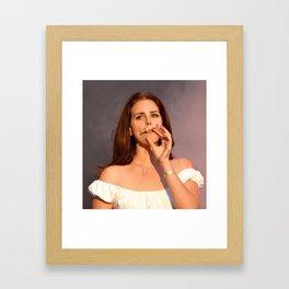 Lana del reysmoking Framed Art Print