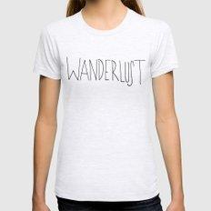 Wanderlust Womens Fitted Tee Ash Grey MEDIUM