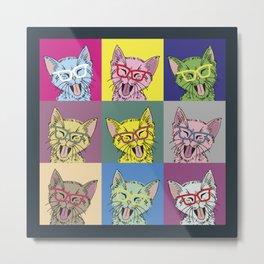 Pop Art Cat Metal Print