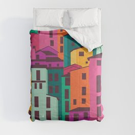 Coastal Town in France Comforters