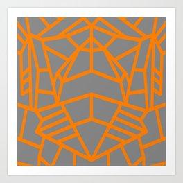 Lunar Lines Art Print