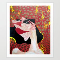 Woman of Fire Art Print