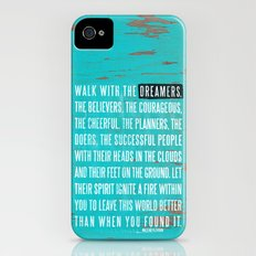Walk with the Dreamers iPhone (4, 4s) Slim Case