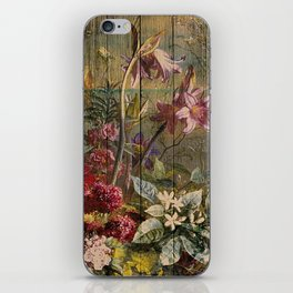 Old master on woodpanel iPhone Skin