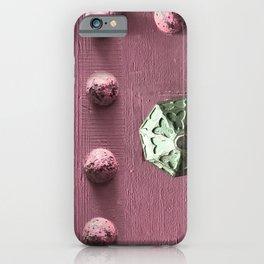 Door Knob #5 on Painted Wooden Door iPhone Case