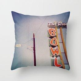 Del Rosa Bowl - San Bernardino, CA Throw Pillow