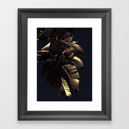 Golden Palm Framed Art Print