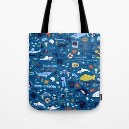 Life Aquatic Plot Pattern Tote Bag