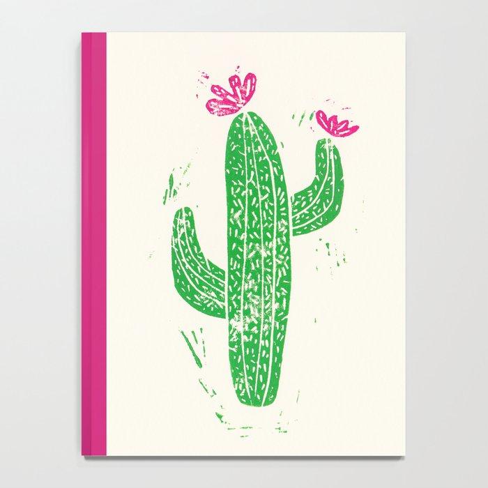 Linocut Cactus #2 Notebook