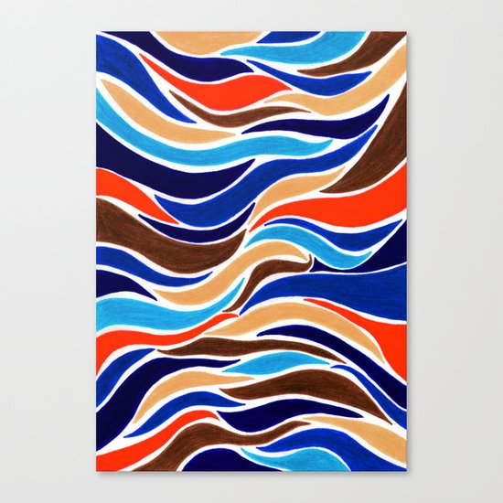 Waterfall of colors Canvas Print