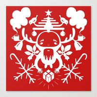 xmas Canvas Prints featuring XMAS by RUEI