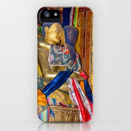 Statue of Buddha in love in Samye monastery, Tibet iPhone Case