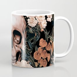 SKULL AND FLOWERS II Coffee Mug