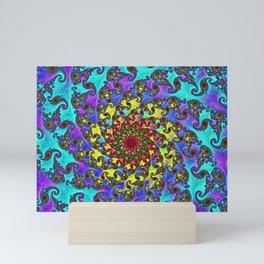 Spiral in BLues Mini Art Print
