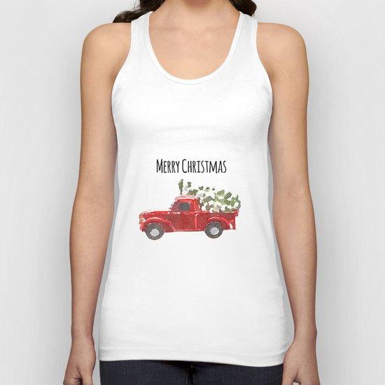 Merry Christmas Unisex Tank Top