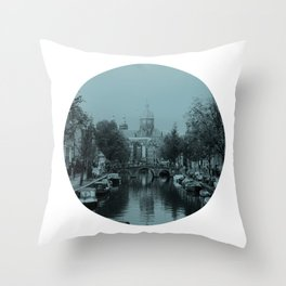 Amsterdam Canal #1 Throw Pillow