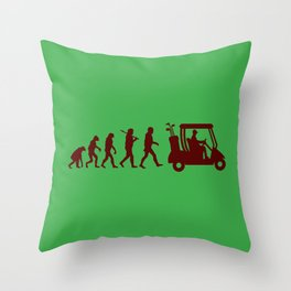 Evolution - golf Throw Pillow