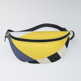 Bold Yellow Memphis Triangle Fanny Pack
