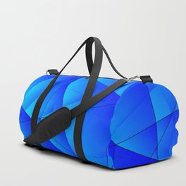 Bright sea pattern of heavenly and blue triangles and irregularly shaped lines. Duffle Bag