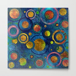Full of Golden Dots - color variation Metal Print