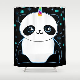 Pandacorn in the Darkness and the Snow Shower Curtain