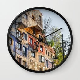 Hundertwasserhaus Vienna Austria Wall Clock