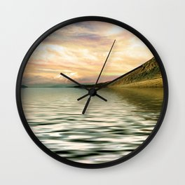 mountain lake 4 Wall Clock